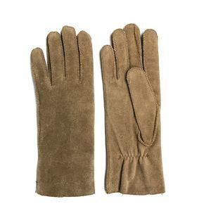 VTG Fownes Camel Brown Suede Lined Gloves Medium